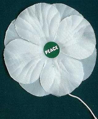 Photo of                 white poppy made of cloth